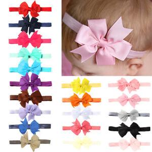 2Pcs//lot Five Star Crown Baby Headdress Hair Ropes Girls Kids Elastic Hair Bands