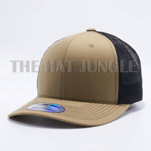 Image is loading Plain-Cambridge-Trucker-Snapback-Hat-Meshback-Baseball-Cap- 5e6a793675b0