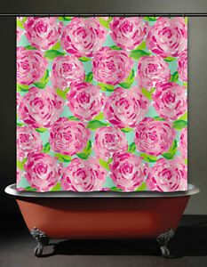 Image Is Loading Floral Lilly Rose Shower Curtain Pulitzer Prize Bathroom