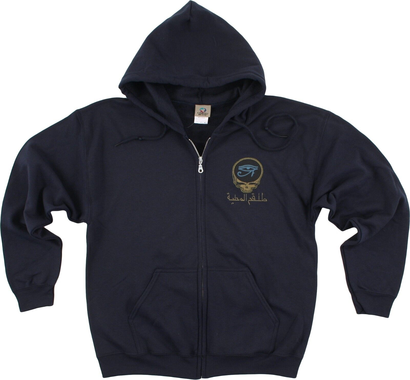 GRATEFUL DEAD-EGYPTIAN CREW-SYF-2 Sided ZIPPEROT HOODIE-SWEATSHIRT M-L-XL-2X