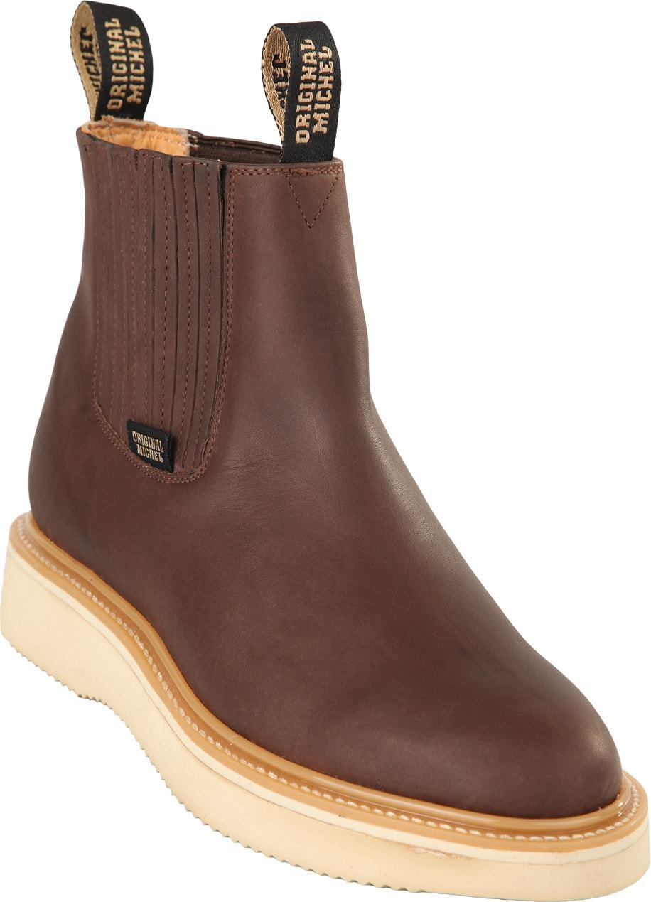 Men's Original Michel Genuine Cowhide Grasso Leather Ankle Work Boots