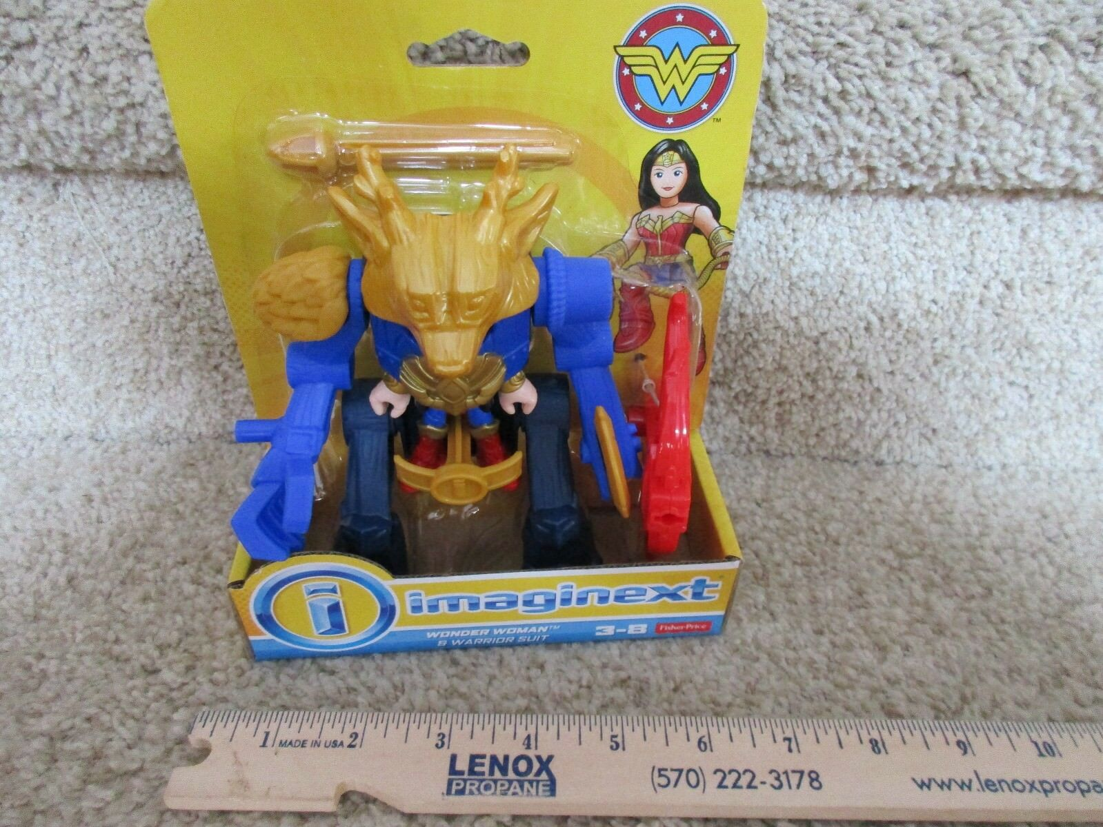 Fisher price Imaginext Wonder Woman Ares Warrior Suit Battle Armor Robot antlers