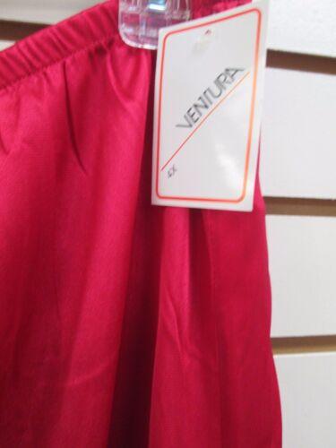 "NWT 4X RED  #7006 Ventura Plus Size Nylon Half Slip 29/"" Long"