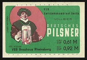 ALT-DDR-Bieretikett-VEB-Brauhaus-Rheinsberg-im-VEB-Getraenkekombinat-Berlin