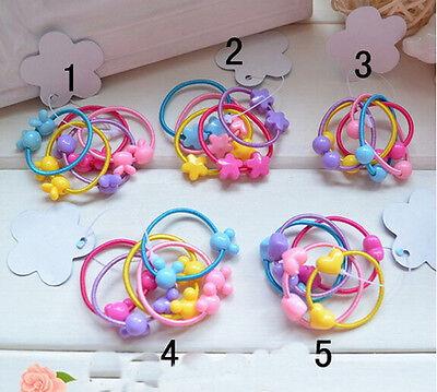 20Pcs Girls Hair Ties Band Candy Colored Hair Circle Baby Hair Rope Multi-Color