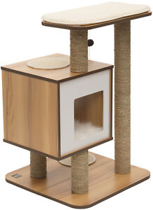 Vesper Socle 55,5 x 56 cm, hauteur: 81,5 cm - couleur: noyer
