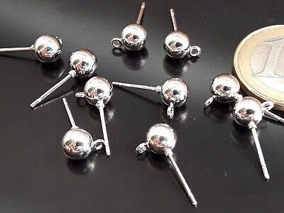 De 10 a 150 Bases pendiente 6mm bola maciza aro colgar ¡OFERTA 2x1 BASE-54
