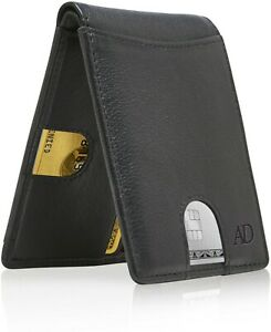 Leather-Slim-Wallets-For-Men-Minimalist-Bifold-Mens-Wallet-With-Pull-Strap-RFID