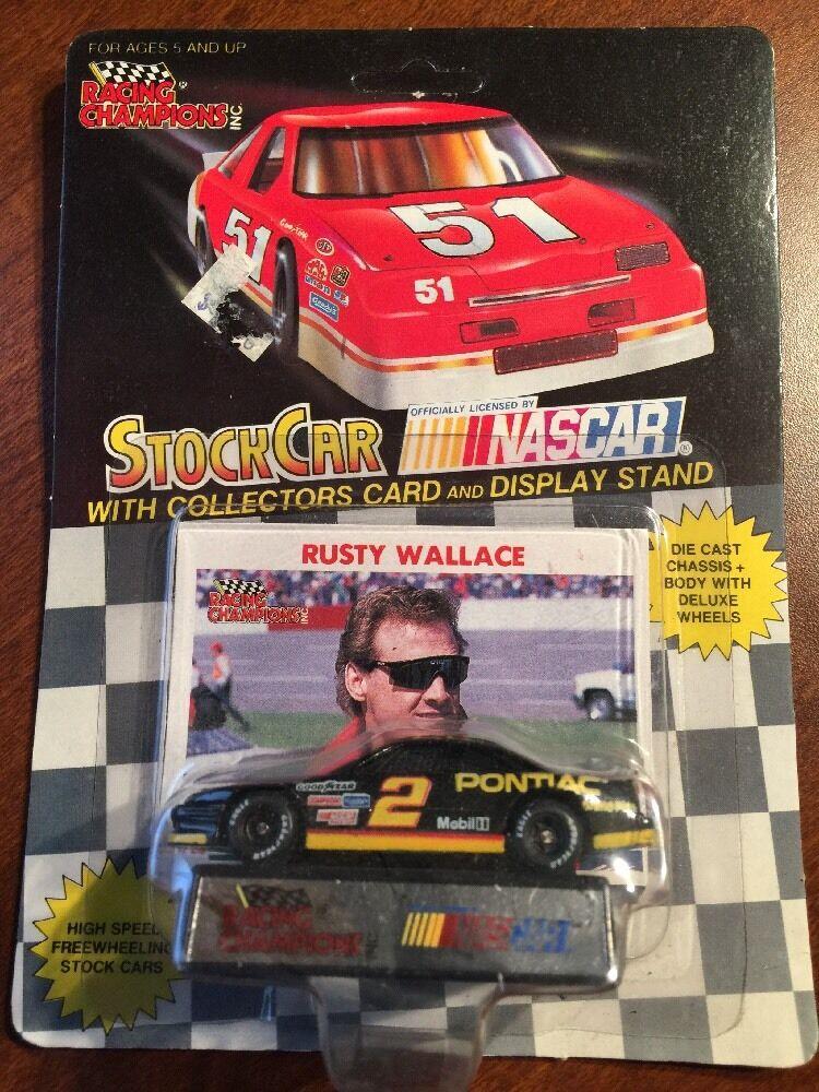 Racing Champions Rusty Wallace Pontiac w Card & Display Stand 1 64th 1991