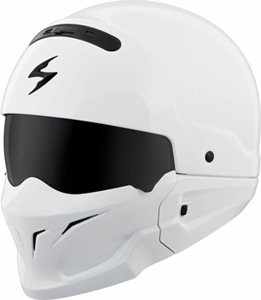 Scorpion Exo Cogreen Half Shell  Helmet Gloss White Free Size Exchanges  limited edition