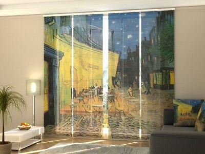 """Maß Agreeable Sweetness Fotogardine Mit Motiv """"vincent Van Gogh Terrace..."""" Schiebegardinen Vorhang Curtains, Drapes & Valances"""