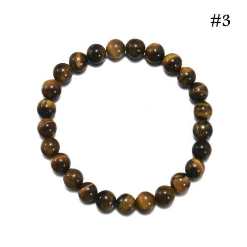 Hommes Femmes 8 Mm Lava Rock Chakra perles élastique pierres naturelles Agate Bracelet Charme