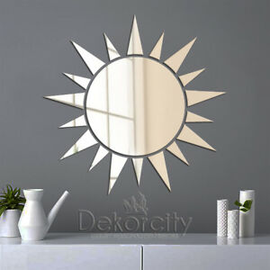 Details About Decorative Wall Art Sun Mirror Modern Home Decoration Acrylic Mirror Wall Mirror
