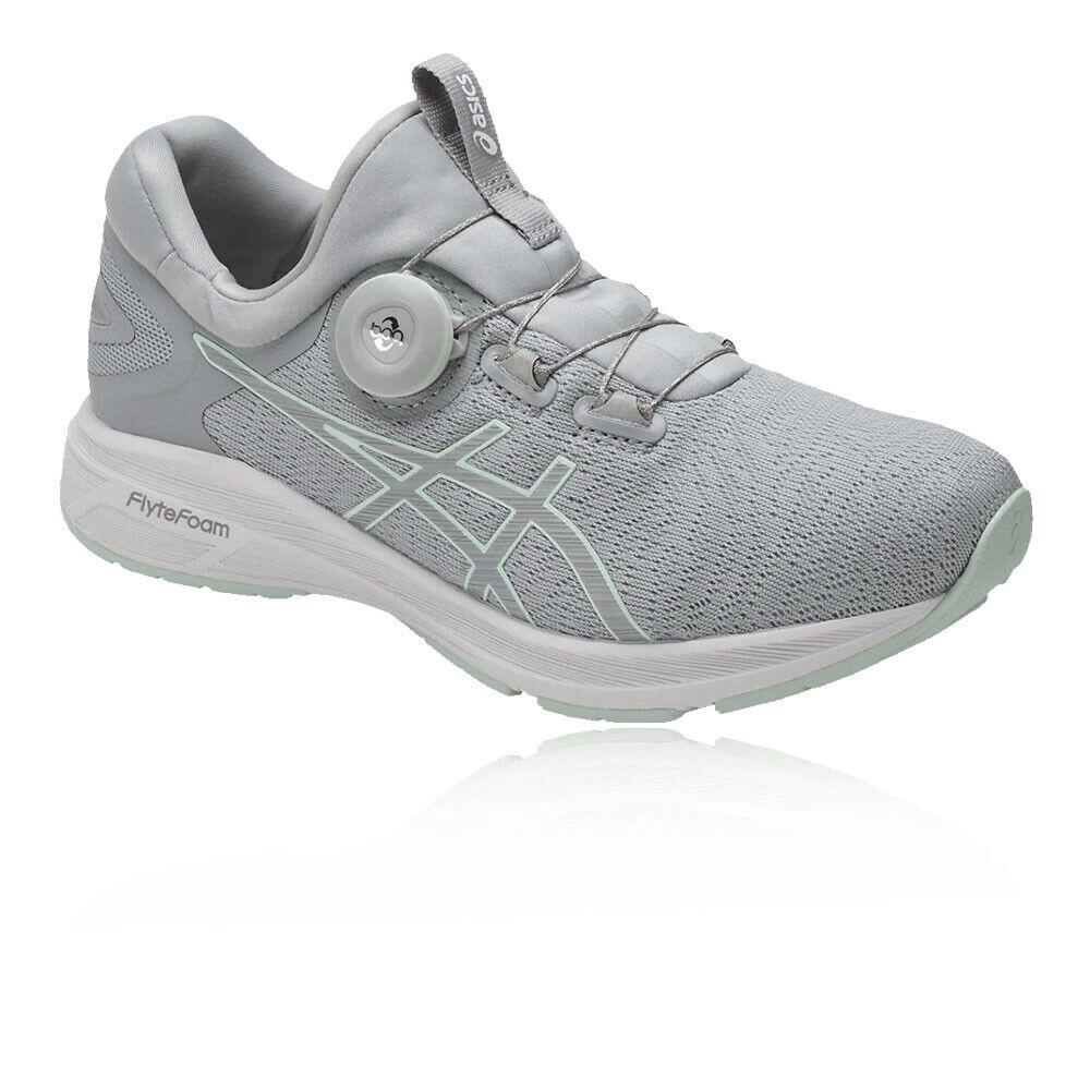 ASICS Dynamics, zapatos deportivos grises, con aire acondicionado ligero.