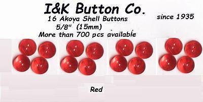 """New Iridescent Blue 16 Akoya Shell Buttons 5//8/"""""""