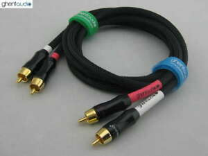 A02-0-5m-1-5ft-Pair-2pcs-RCA-Choseal-4N-OFC-HIFI-Audio-Cables