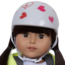 Purple Bike Helmet with Easy Strap and Decorate Yourself Decals Fits American Girl Dress Along Dolly Doll Bike Helmet