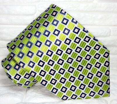 Cravatta Uomo Seta Pura Verde Made In Italy Jacquarte Handmade Crease-Resistenza