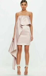 Missguided-Exaggerated-Pink-Frill-Mini-Dress-Ladies-Party-Wear