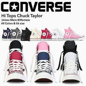 10c841ba26b42 Converse Women   Men Unisex All Star High Top Chuck Taylor Trainers ...