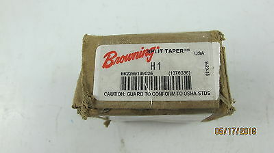 "New Browning H1 Split Taper Hub 1/"" Bore Pulley Gear Adapter Free Shipping"
