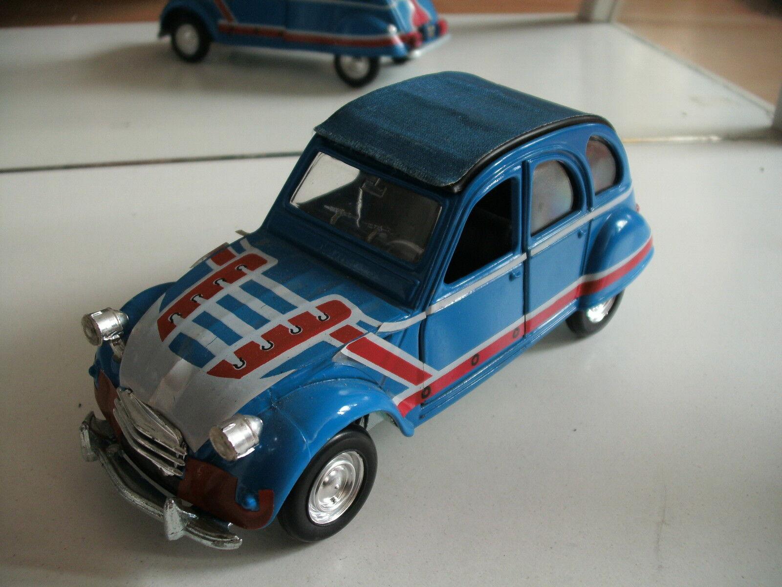 Polistil Citroen 2cv 2 CV Basket in bluee on 1 25