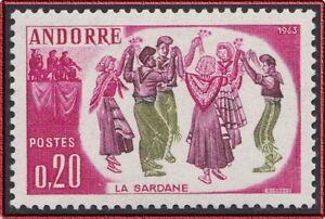 Danse La Sardane French Andorra Dance Mnh Clearance Price Buy Cheap 1963 Andorre N°166** Folklore