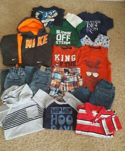Lot-of-15-boys-039-18-24-mos-Jeans-Shirts-Nike-Sweatsuit-PJs-Shorts-Gymboree-Place