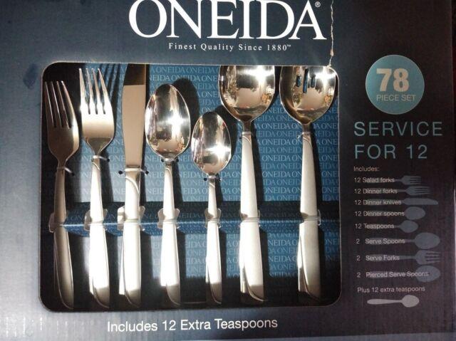 Oneida  78-Pc. Flatware Set, Service for 12 Kitchen, Dining & Bar