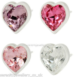 1bb56d16a Image is loading Hypoallergenic-Blomdahl-medical-plastic-crystal-heart-stud- earrings-