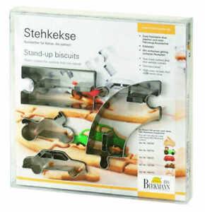 Stehkekse-Ausstechformen-Fahrzeuge-Fahrbahn-4-Teile-Edelstahl-RBV-Birkmann
