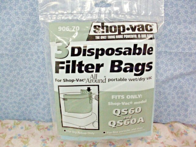 Vac 3 Disposable Collection Filter Bags For All Around Part