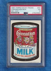 1967 Topps Wacky Packs Die-Cuts #37 Coronation Milk PSA 3