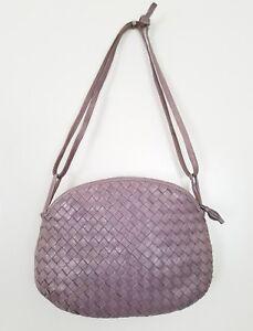 Image Is Loading Bottega Veneta Intrecciato Lavender Cross Body Convertible Handbag