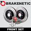 FRONT BRAKENETIC PREMIUM GT SLOT Brake Rotors+POSI QUIET Ceramic Pads BPK90372
