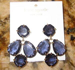 Kate Spade Kaleidoscope Gem Sapphire Blue Coated Setting Drop
