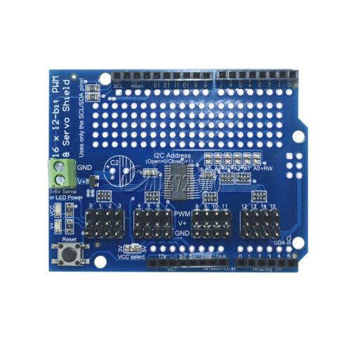PCA9685 I2C 16-Channel 12-bit PWM//Servo Drive shield For Arduino