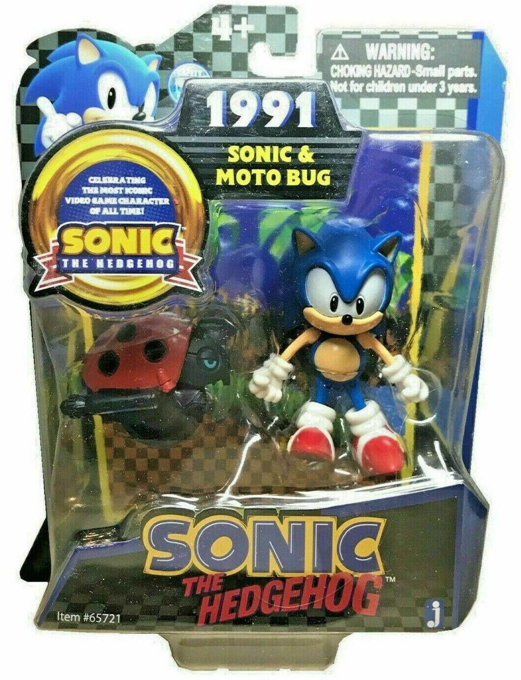 Sonic 20. Anniversario Sonic & Motobug 2x cifra PVC 8cm Jazwares