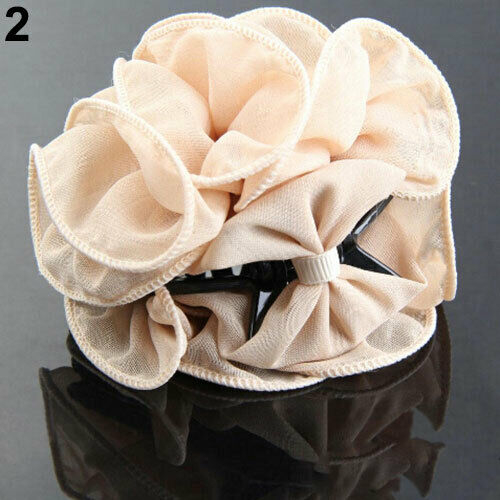 Fashion Flower Chiffon Lady Hair Clip Hair Claw Clamp Accessory Surprise
