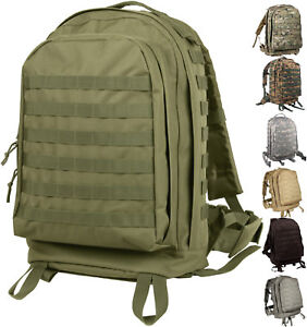 Image is loading Large-Tactical-Backpack-Military-3-Day-Assault-Pack- 8f06af4817
