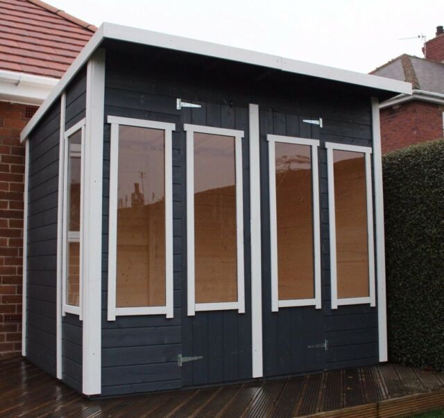 Luxury Garden Summer House 8ft X 6ft Garden Home Office