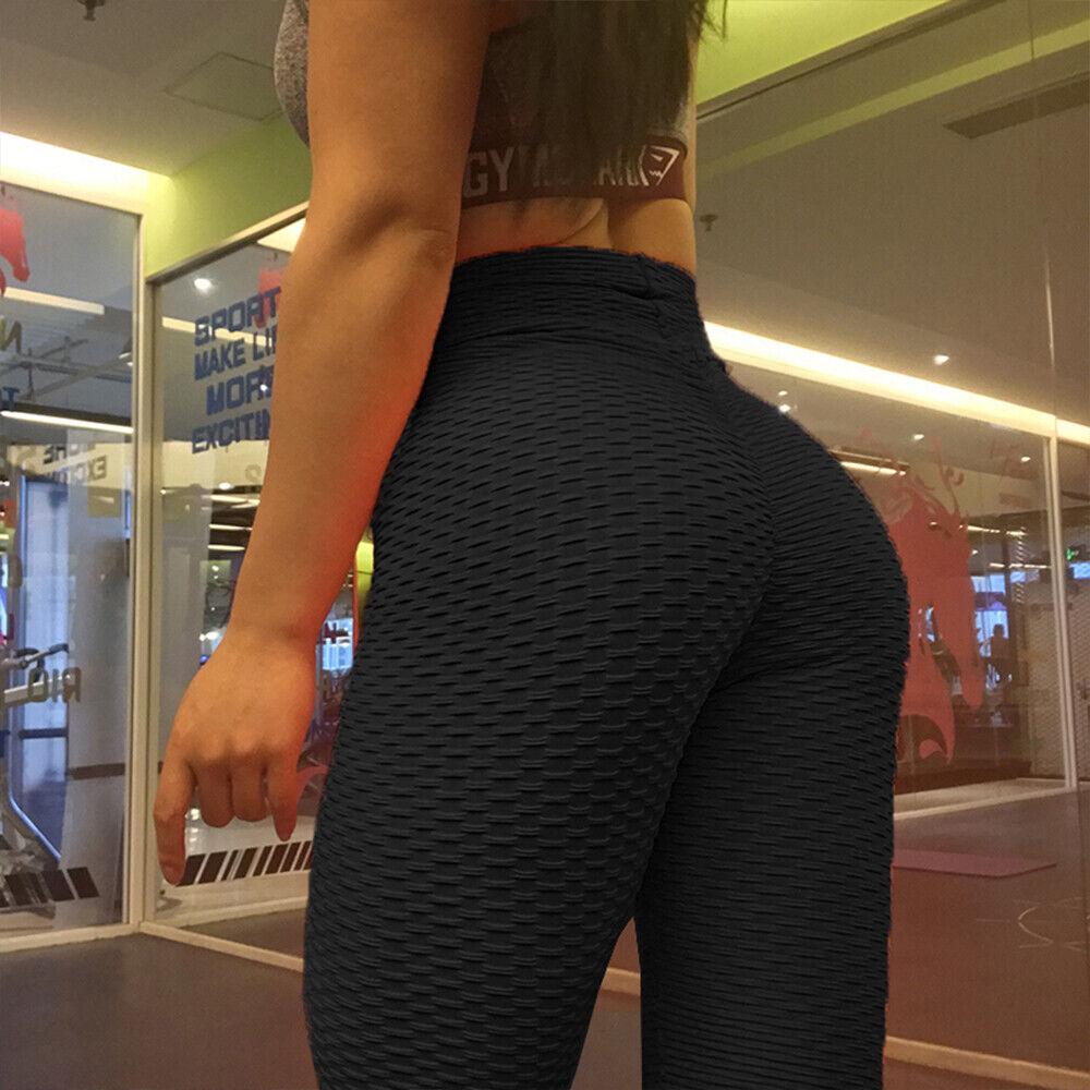 Damen Yoga Leggings Push Up Sport Hose Fitness Gym Laufhosen Stretch Leggins ASA