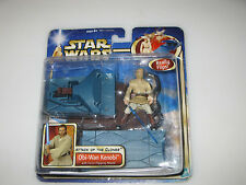Star Wars - Attack of the Clones - Obi-Wan Kenobi with Force Flipping Attack