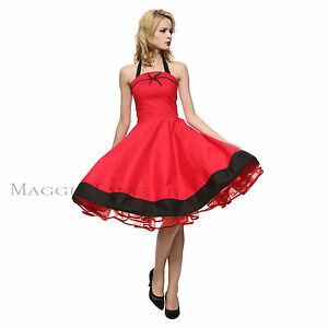 82be03063d9e Maggie Tang 50s 60s Retro VTG Pinup Rockabilly Swing Dress Cos Party ...