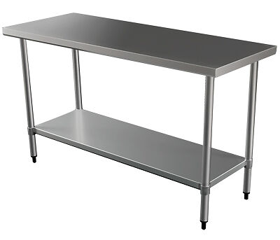 """NEW ACE Kitchen Stainless Steel Centre Work Bench Table 24"""" X 36""""  mod2436EE"""