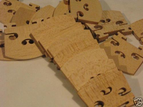 Violin part  300 pcs violin bridges 4 4,fine maple laser precise