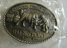 National Finals Rodeo Hesston 1981 NFR Adult Cowboy Buckle Vintage Original Pkg