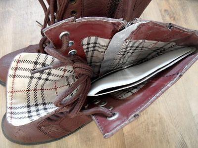 CHEER schöne Schnür-Boots mauve Gr. 36 NEU 817