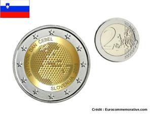 2 Euros Commémorative Slovénie 2018 Abeille UNC
