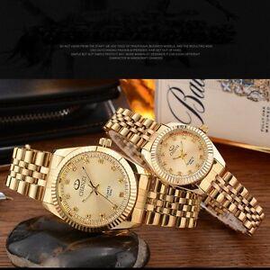 Most-Popular-Waterproof-Men-s-amp-Women-s-Yellow-Gold-Crystal-Quartz-Wrist-Watches